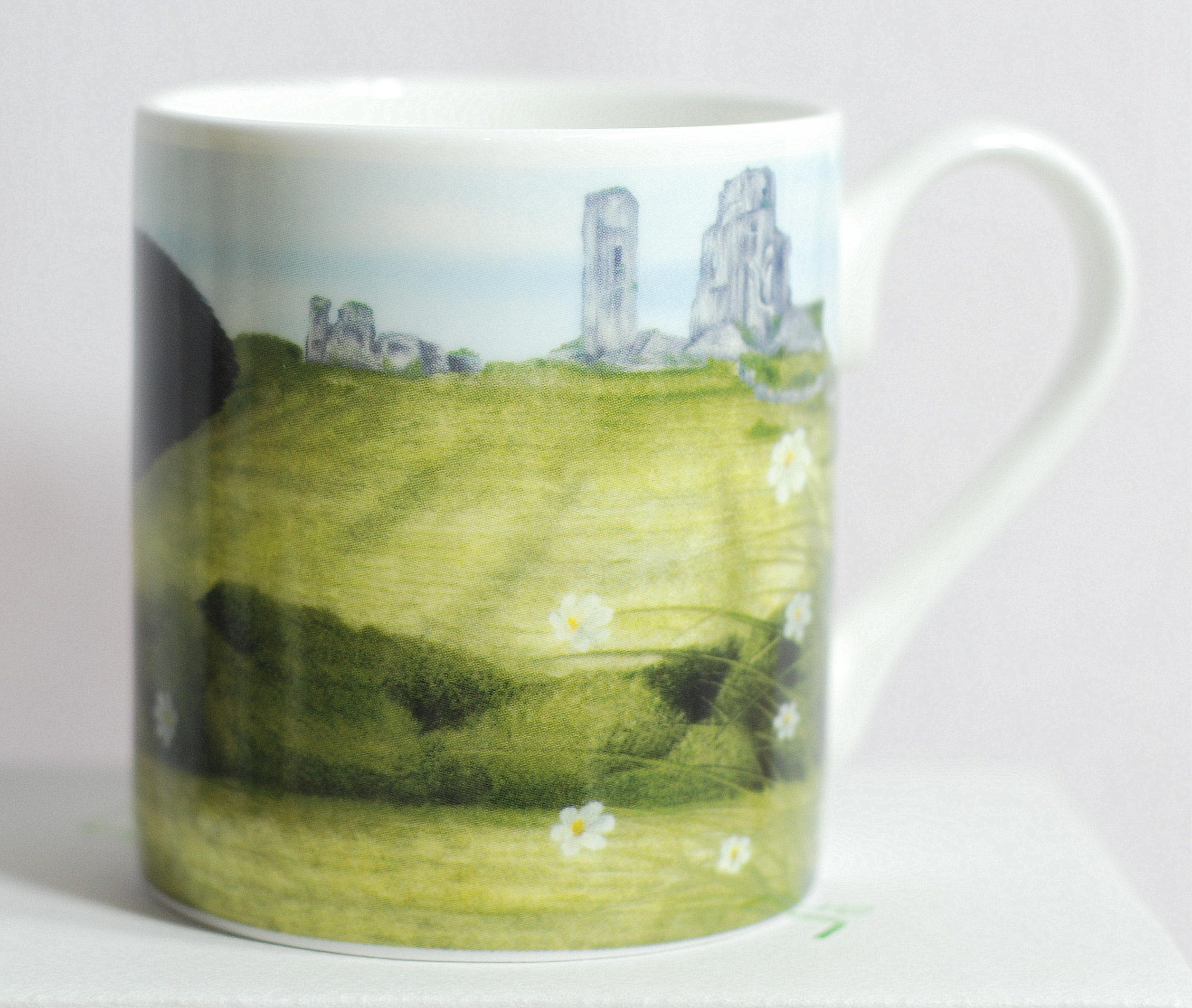 Moo Mug - Moo Selfie at Corfe - Back