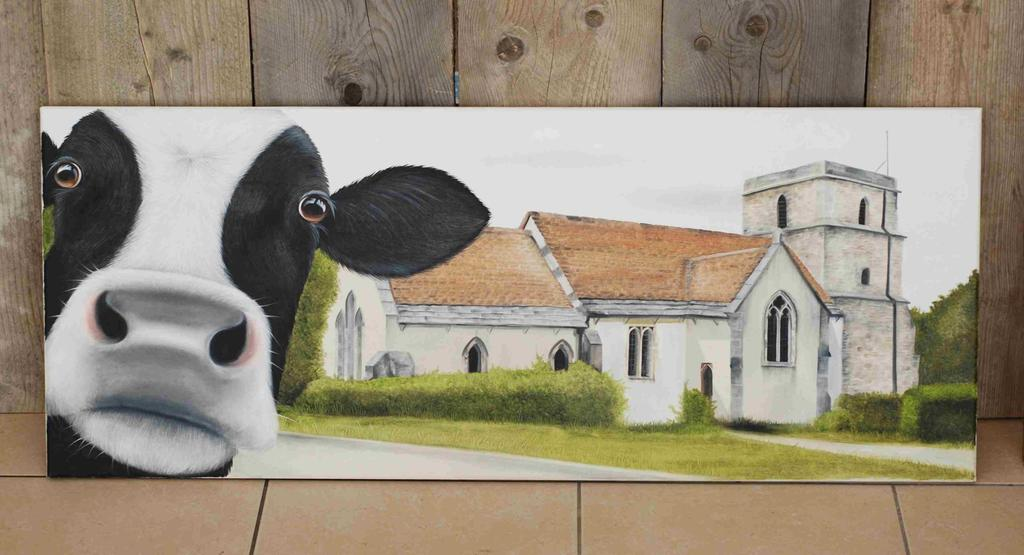 Moo Selfie at St Hubert's Church