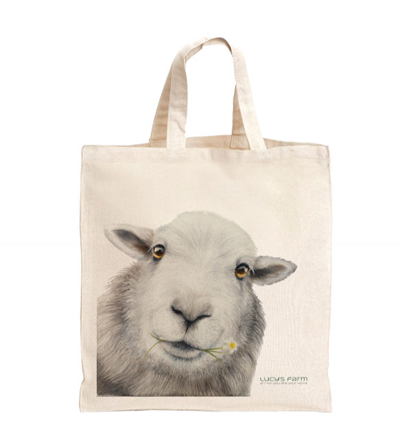 Daisy the Sheep, Herdwick Sheep Bag, Reusable Bag, Bag for life, sustainable bags, ethical brand, shopping tote, gym bag, handbag, Shoulder Bag, Canvas Bag, Tote Bag