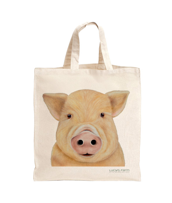 Pig Bag, Reusable Bag, Bag for life, sustainable bags, ethical brand, shopping tote, gym bag, handbag, Shoulder Bag, Canvas Bag, Tote Bag