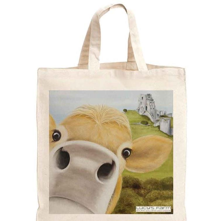 Reusable Bag, Bag for life, sustainable bags, ethical brand, shopping tote, gym bag, handbag, Shoulder Bag, Canvas Bag, Tote Bag,jersey cow, Corfe Castle themed gifts, Corfe Castle gift, Corfe Castle gifts uk, Corfe Castle gift ideas, Corfe Castle merchandise, Corfe Castle Bag