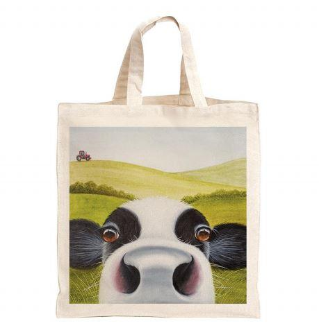 Friesian Cow Bag, dairy cow bag, black and white cow bag, Reusable Bag, Bag for life, sustainable bags, ethical brand, shopping tote, gym bag, handbag, Shoulder Bag, Canvas Bag, Tote Bag, Red Tractor