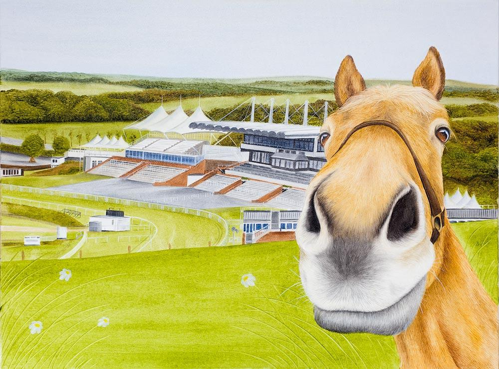 New Horse Painting at Goodwood Racecourse