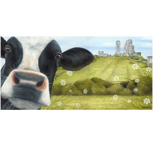 Corfe Castle Moo Selfie by Lucy's Farm