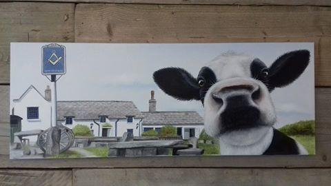 Moo Selfie at The Square and Compass, Purbeck Dorset