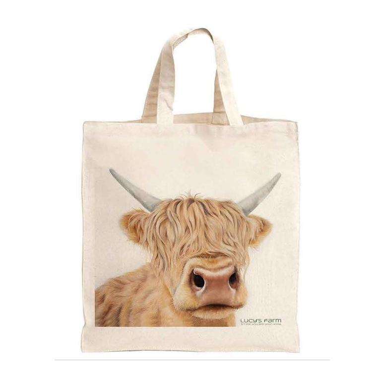 highland cow bag, Reusable Bag, Bag for life, sustainable bags, ethical brand, shopping tote, gym bag, handbag, Shoulder Bag, Canvas Bag, Tote Bag