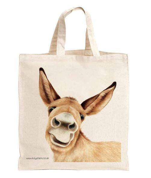 Reusable Donkey Bag, Bag for life, sustainable bags, ethical brand, shopping tote, gym bag, handbag, Shoulder Bag, Canvas Bag, Tote Bag