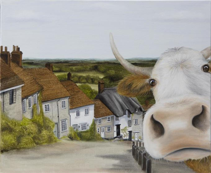Swanage Artist, Swanage Based Artists, The Farm Artist, Swanage Artists, Cow Artist