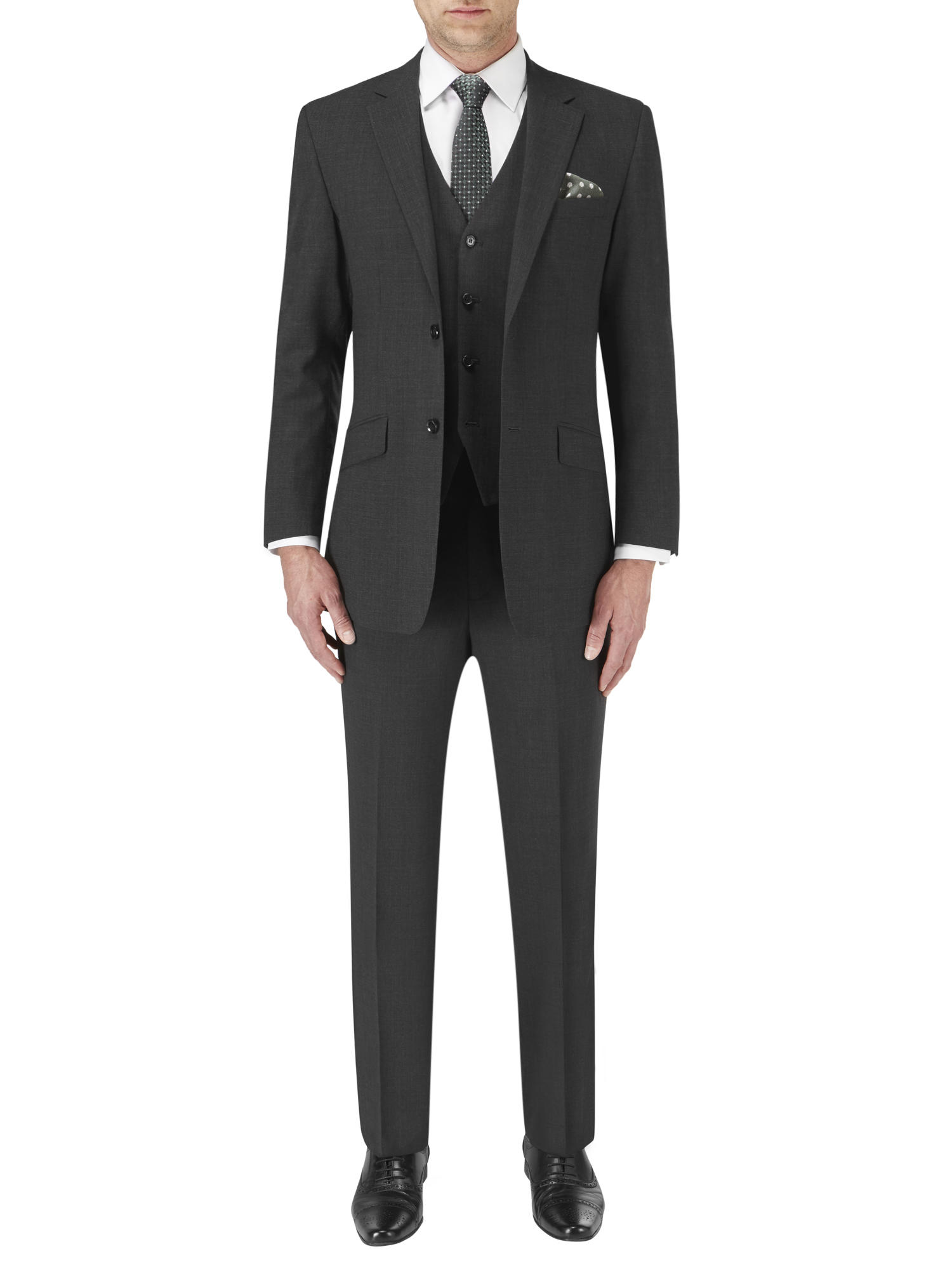 Skopes Darwin Tailored Fit Suit Charcoal