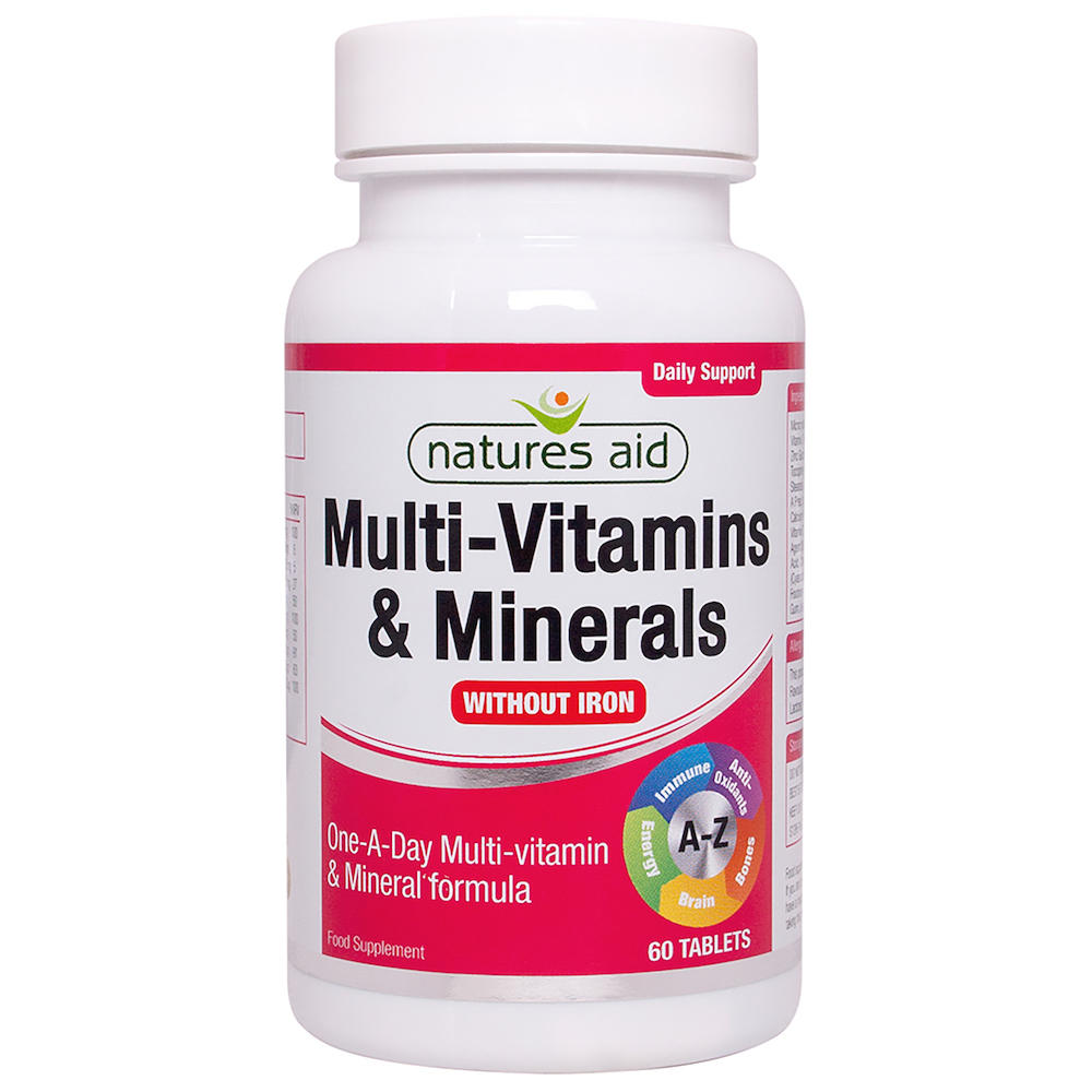 multi vitamins amp minerals without iron suitable for
