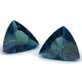 Trilliant cut blue sapphires