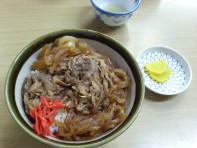 Gyuudon for lunch (beef & rice)