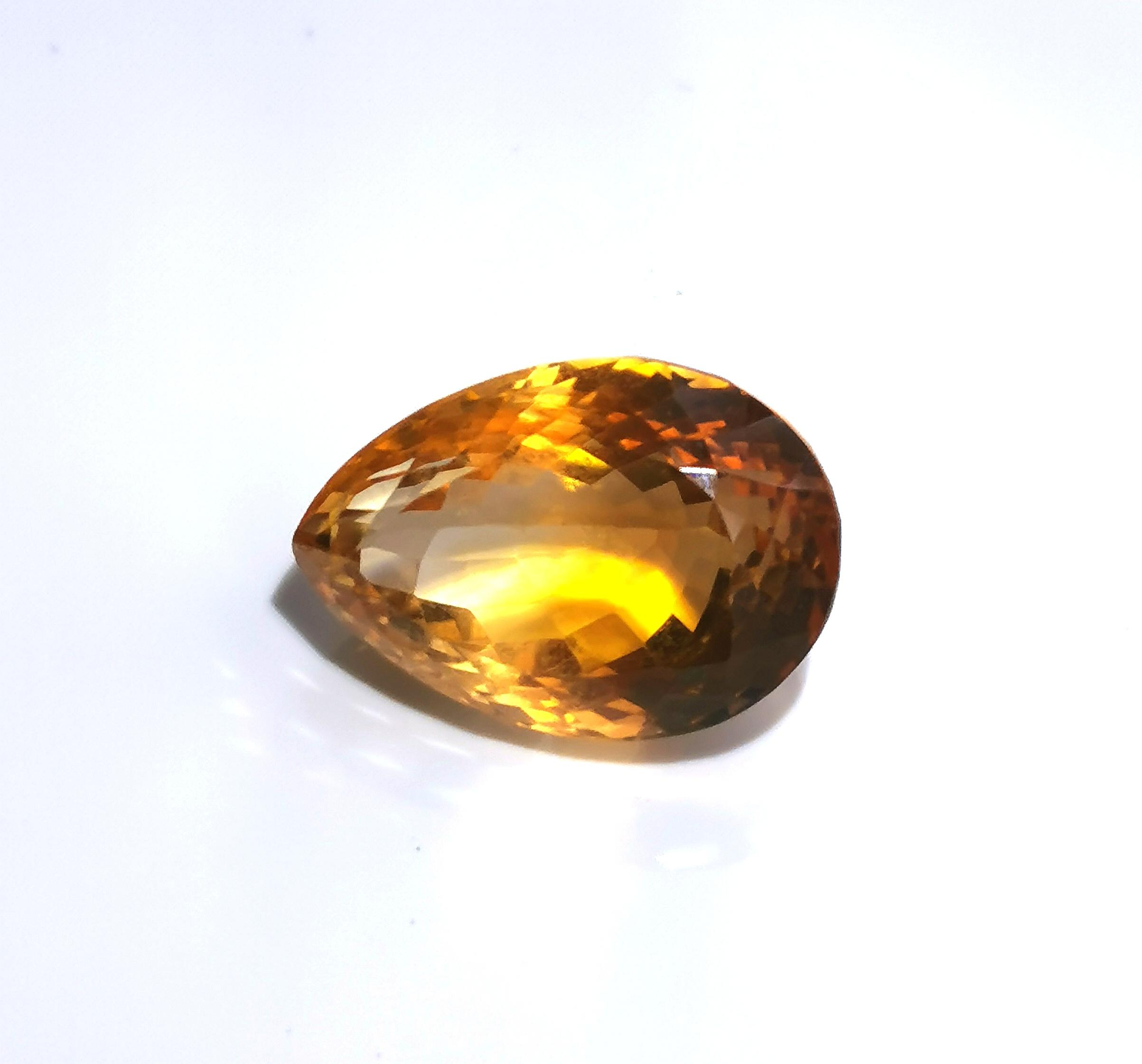 Citrine 13.26 cts Pear Cut