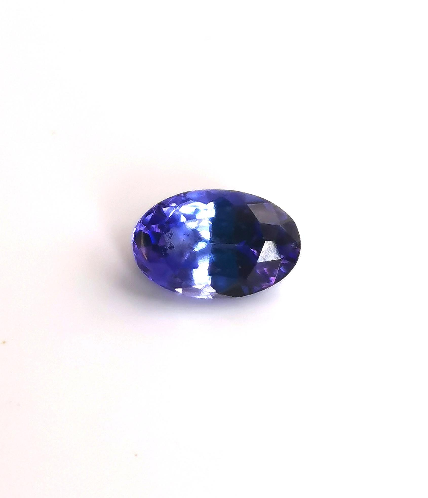 Tanzanite 0.66 cts Oval Cut