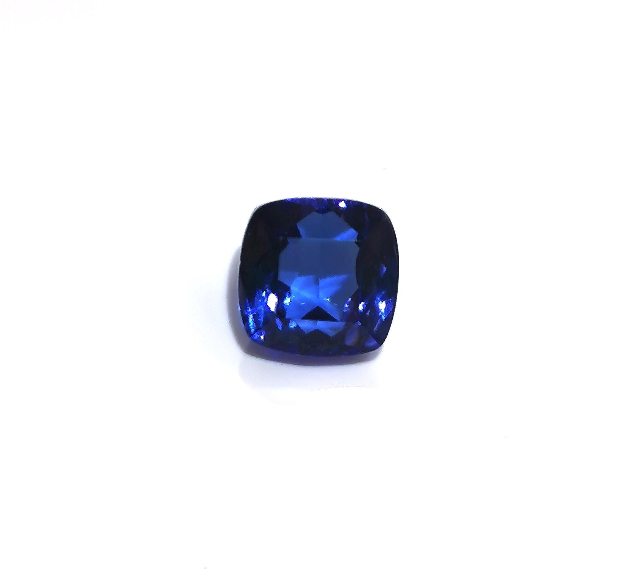 Tanzanite 2.8 cts Square Cushion Cut