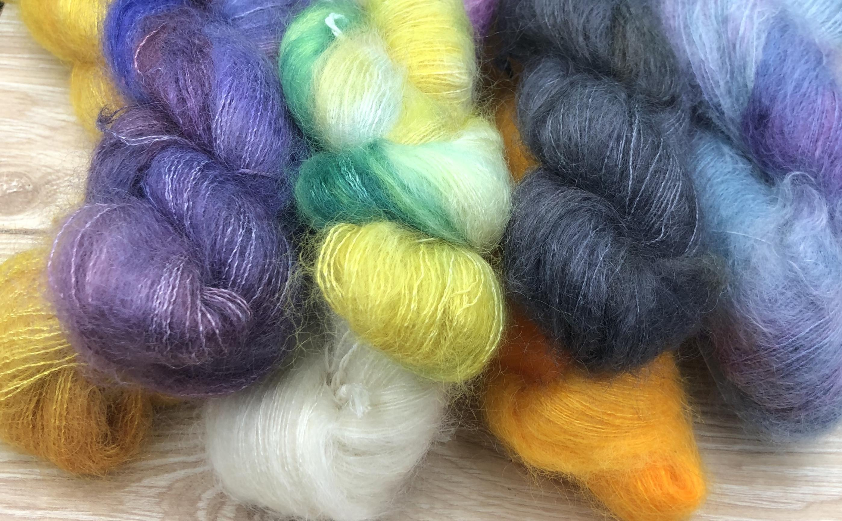 luxury kid mohair yarns.