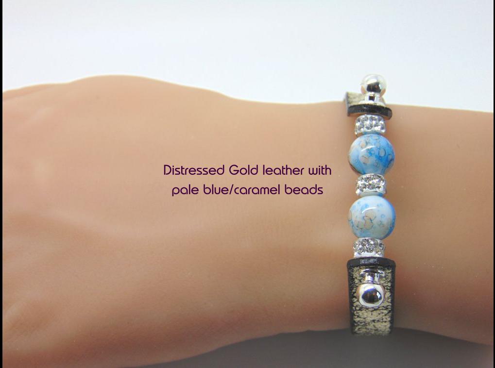 d15f69588b4a Pale blue   caramel coloured bead