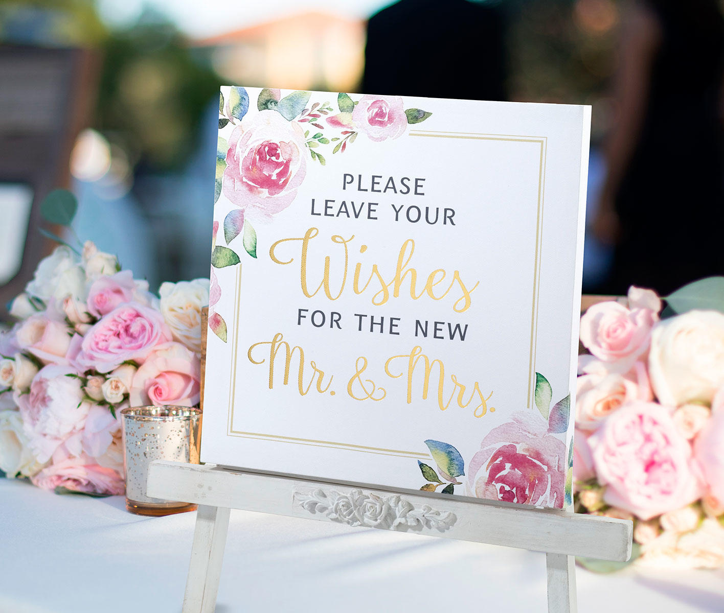Lillian Rose Water Colour Seating Wedding Sign