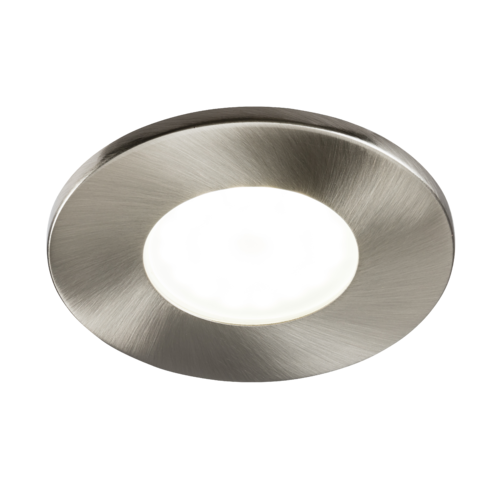 230V IP20 Fixed GU10 Fire-Rated Downlight- Brushed Chrome
