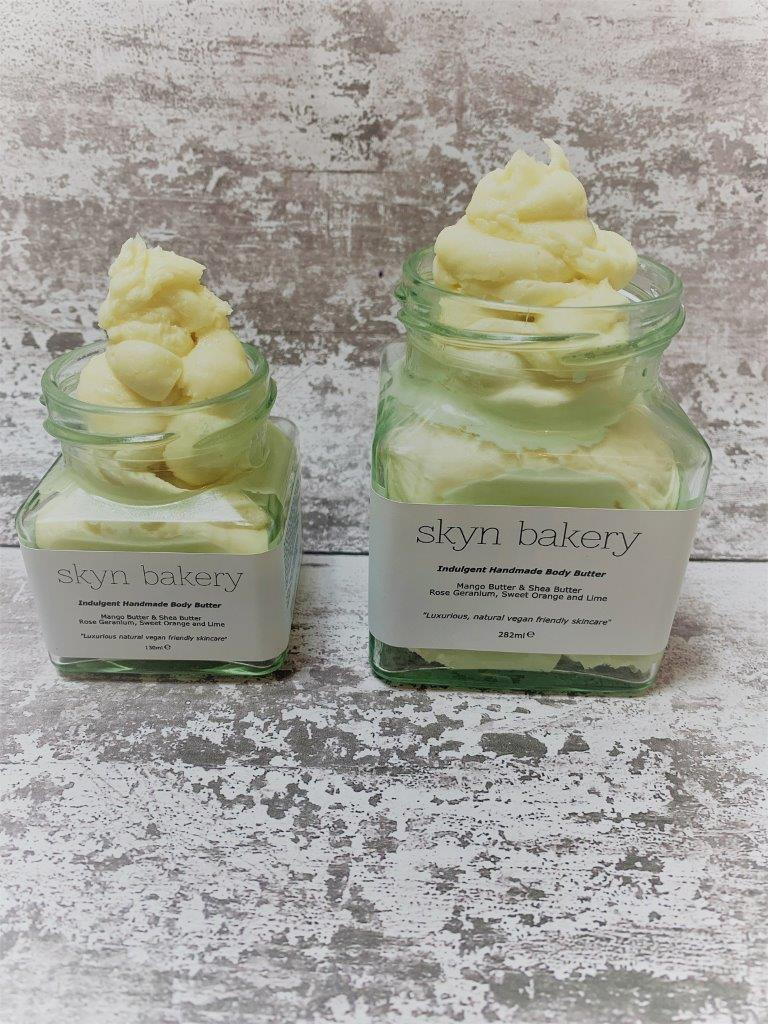 Handmade Jars of Body Butter in Plastic Free Packaging Close Up