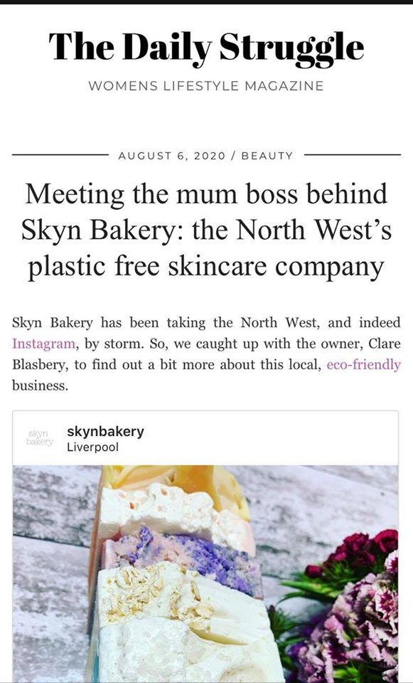 Skyn Bakery featured on The Daily Struggle