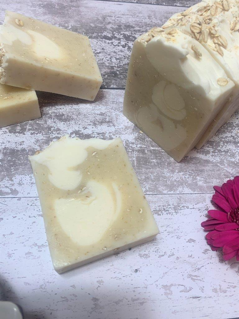 Oat And Lavender Handmade Soap in Plastic Free Packaging