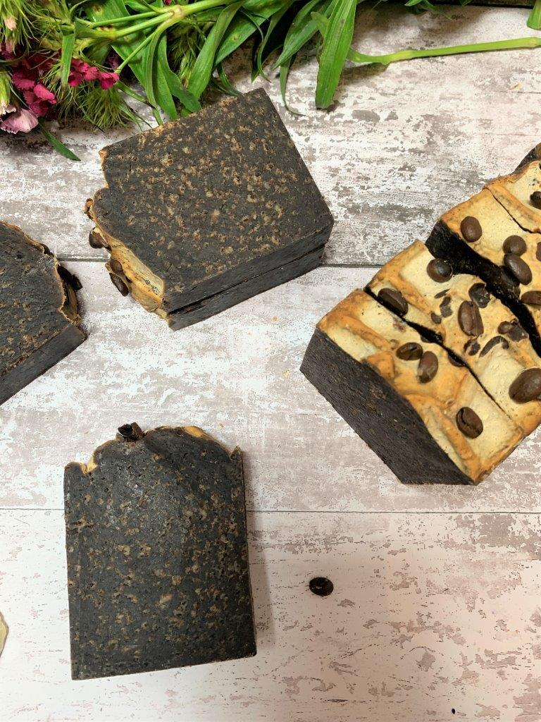 Coffee And Cacao Handmade Soap in Plastic Free Packaging