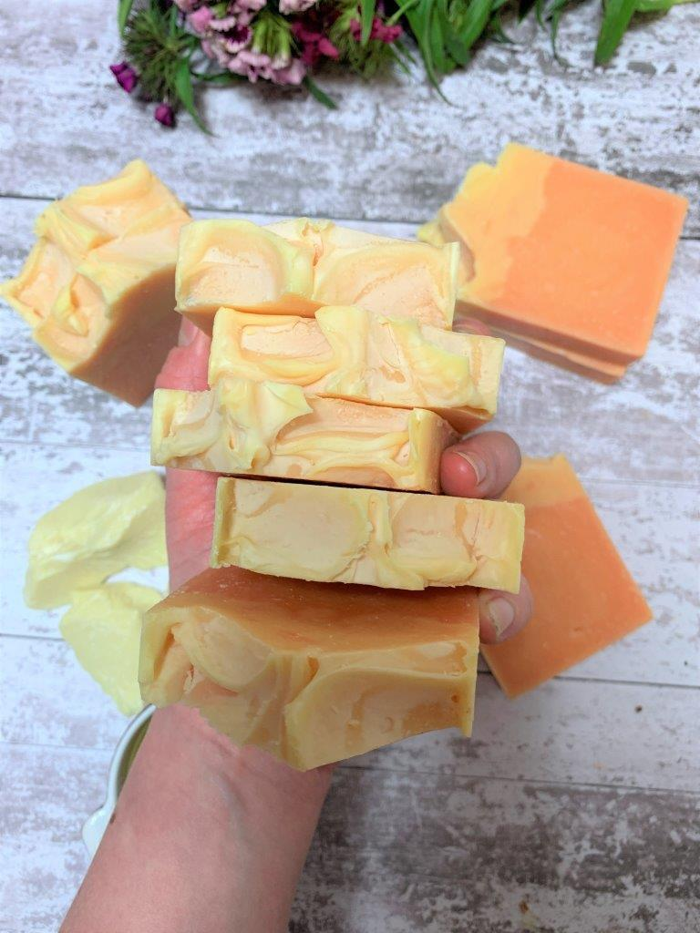 Lemongrass, Lime And Black Pepper Handmade Soap in Plastic Free Packaging From Above