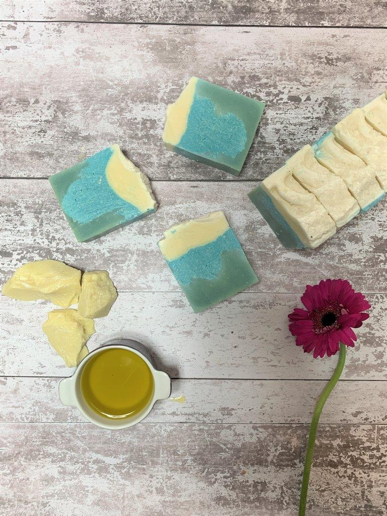 Lemongrass, Tea Tree And Sea Salt Handmade Soap in Plastic Free Packaging