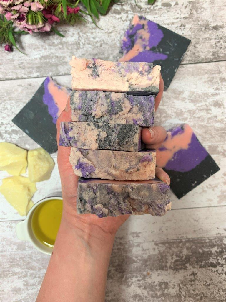 Ylang Ylang, Bergamot And Activated Charcoal Handmade Soap in Plastic Free Packaging