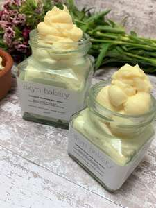 Handmade Jars of Body Butter in Plastic Free Packaging