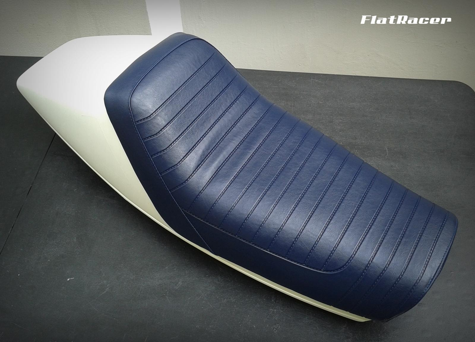 FlatRacer BMW R100 RS 3/4 Solo seat vinyl seat cover - 1978 Motorsport blue