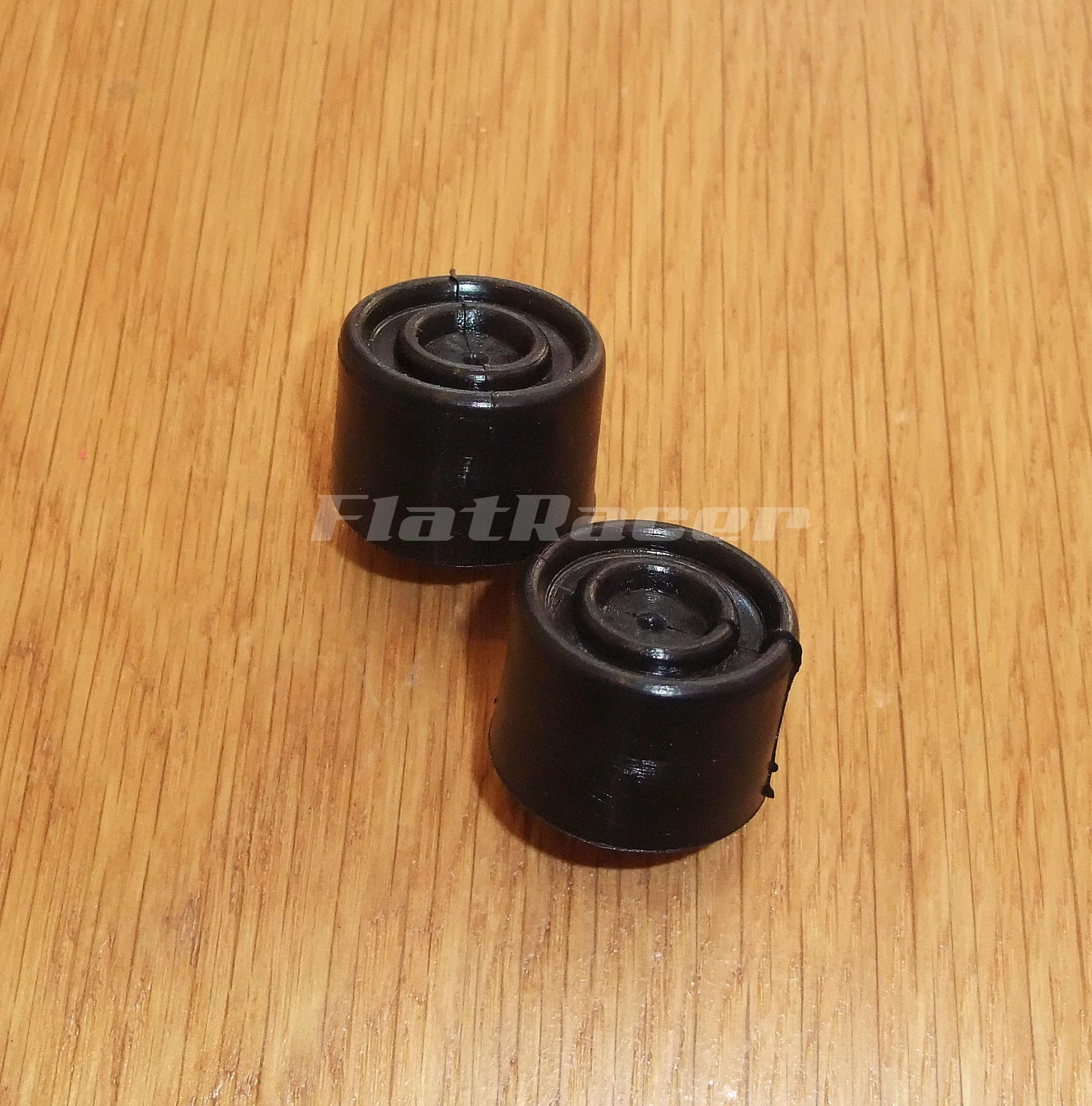 FlatRacer seat rubber buffer stops (pair) - 25 W x 16.5 H x 9mm hole