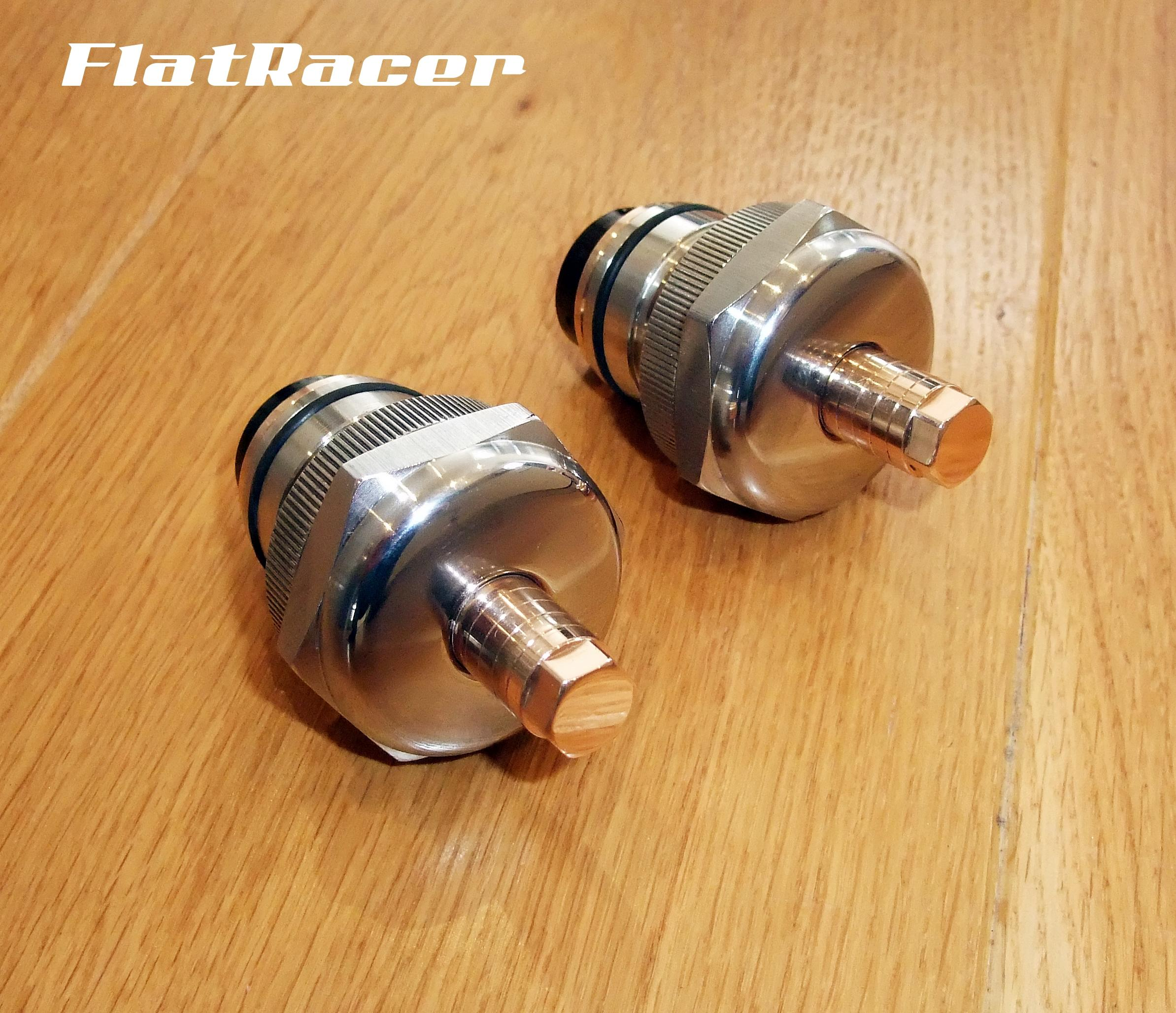 FlatRacer BMW R2v Airhead Boxer Monolever (1985 on) fork pre-load adjusters (pair)