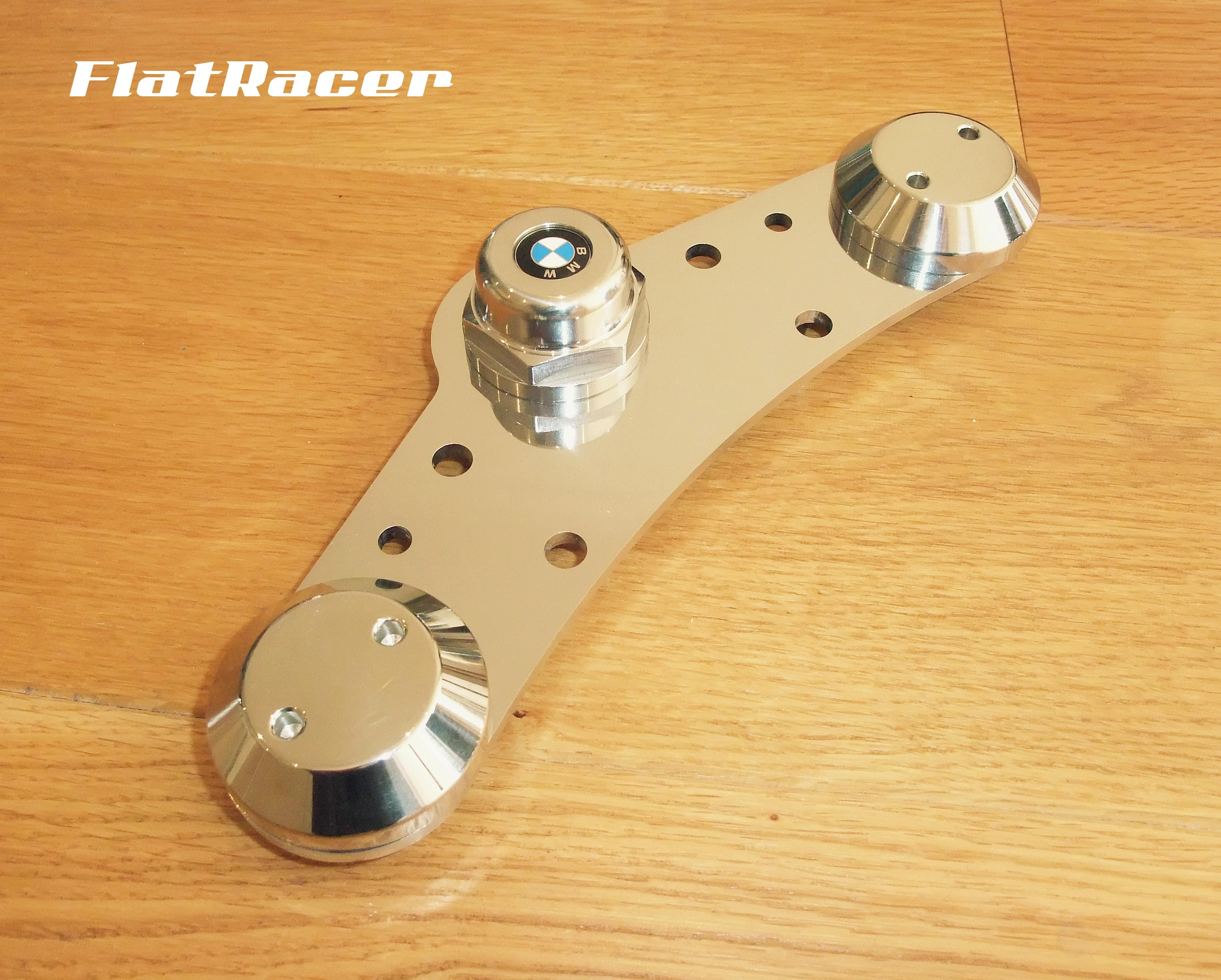FlatRacer BMW /5 & /6 (70-76) Airhead Boxer stainless steel top yoke Set