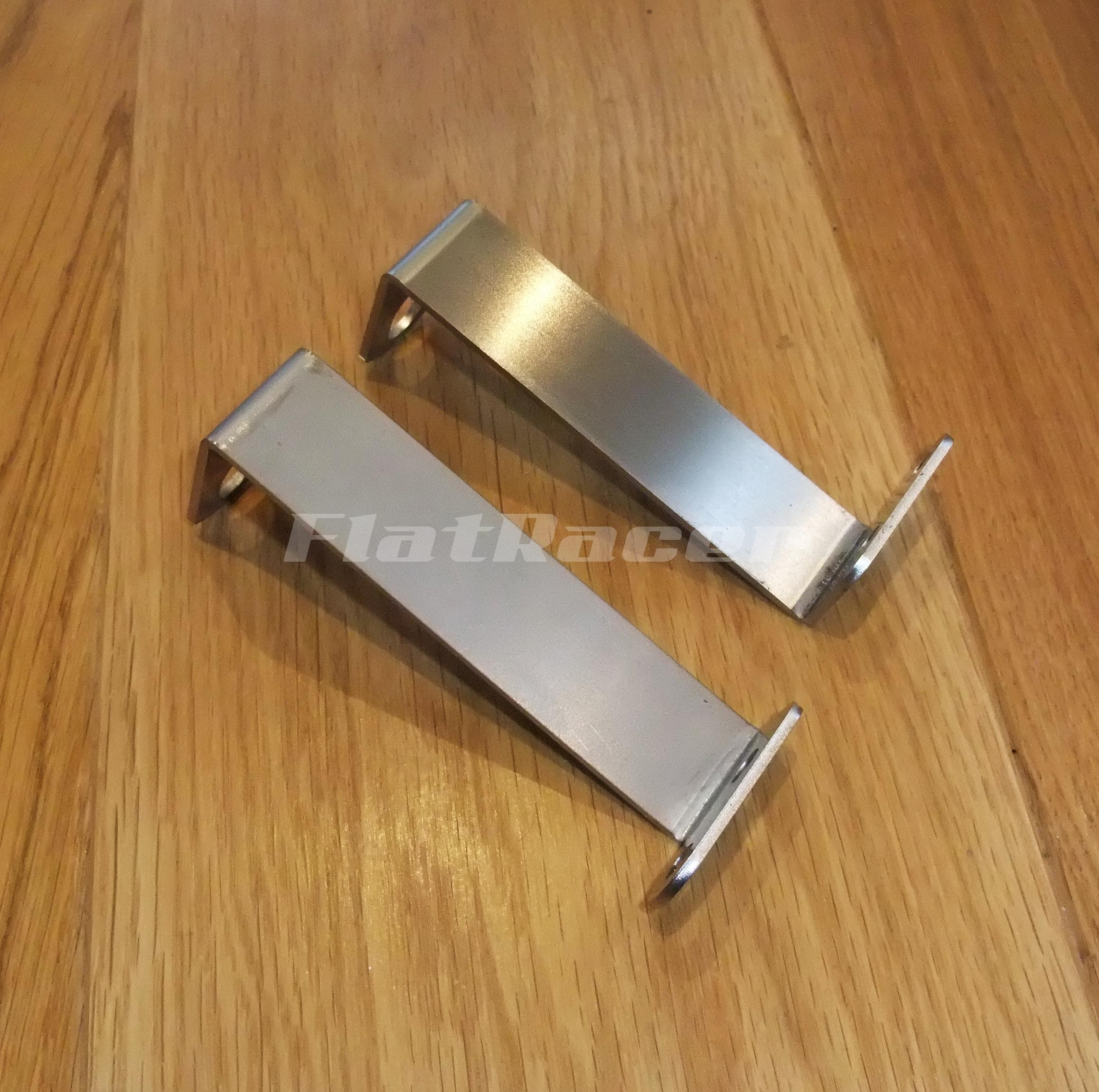 FlatRacer BMW R80 & R100 RS/RT lower fairing stainless steel brackets (pair)