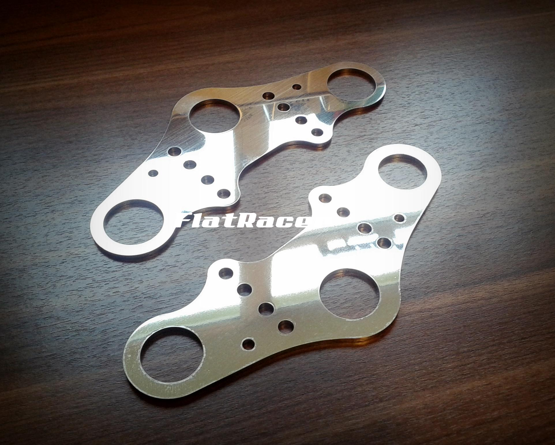 FlatRacer BMW R2v Airhead Boxer /7 Series (76-84) stainless steel top yoke plate