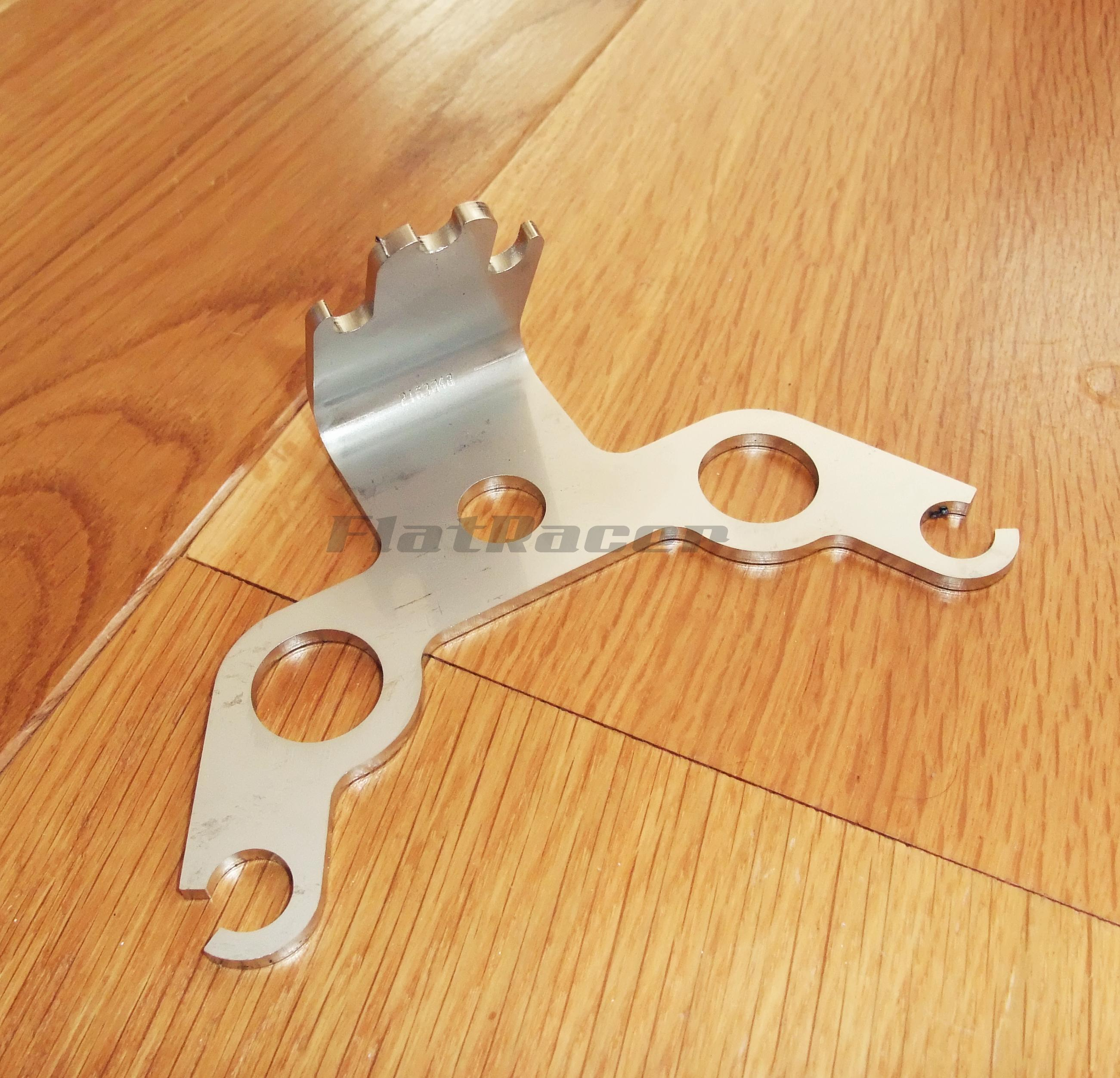 FlatRacer BMW Airhead Boxer stainless steel low instrument cluster bracket - 31421232240