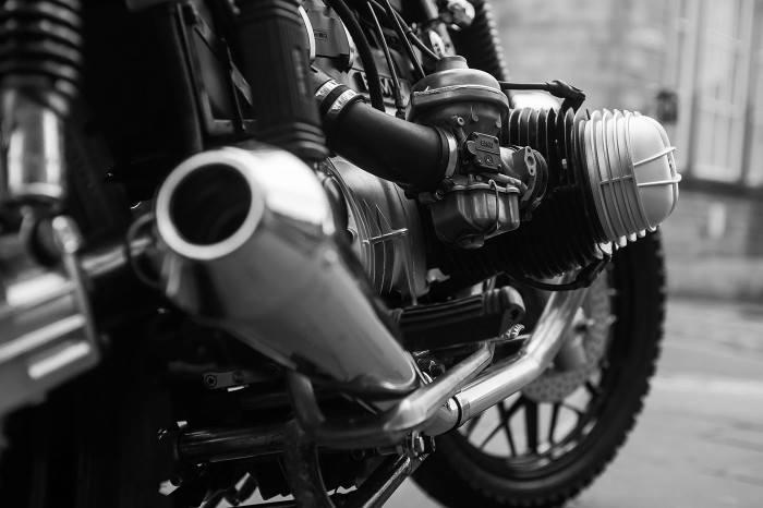 MegaTon Cafe Racer exhaust silencers
