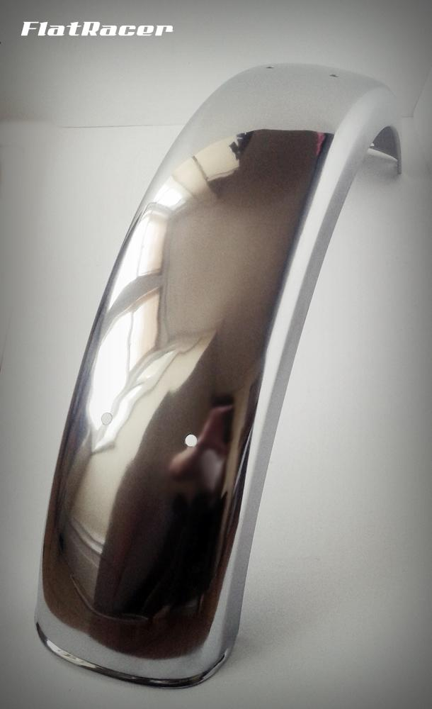 "FlatRacer BMW Airhead Boxer 6"" (flatter centre) stainless steel rear mudguard"