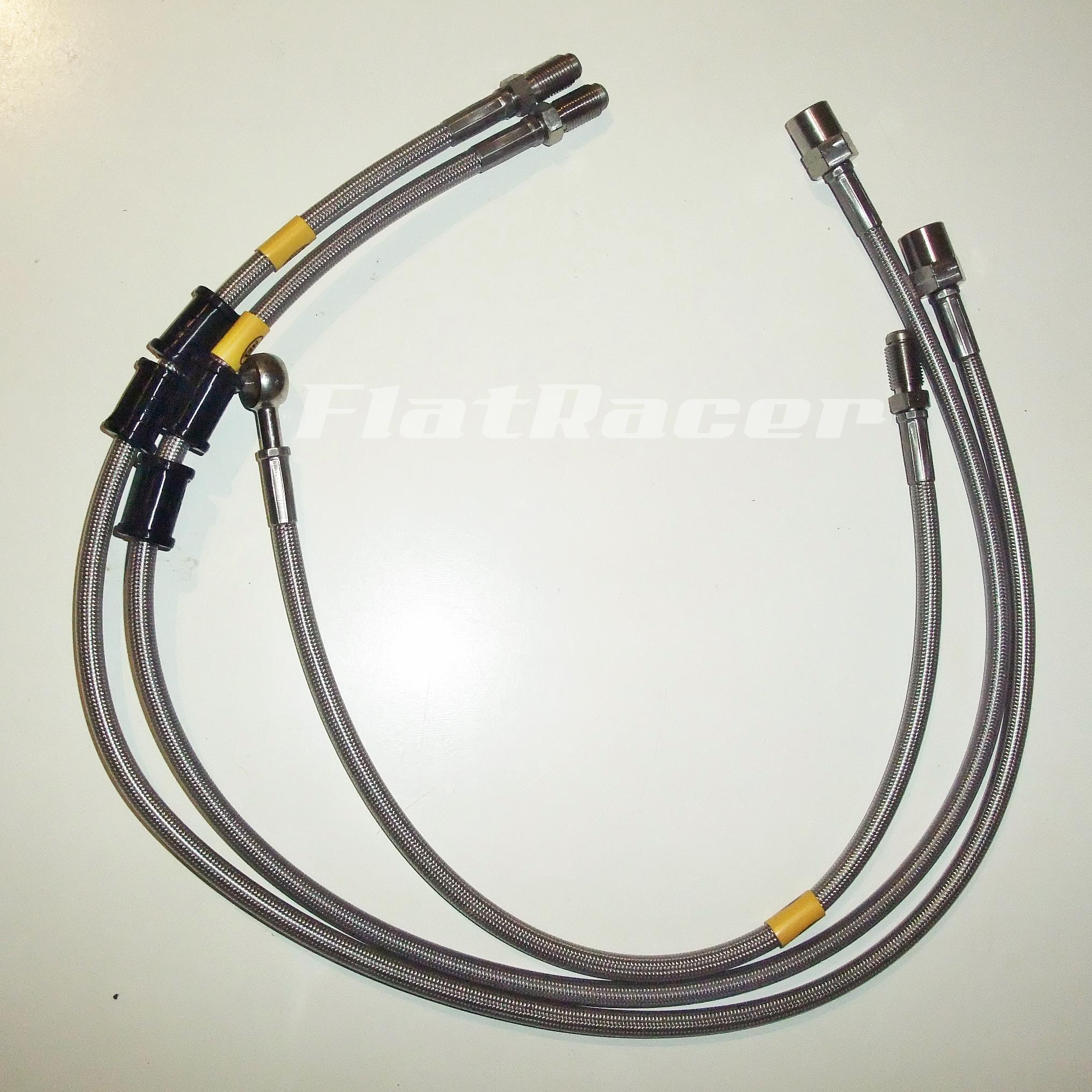BMW Series /7 (81-84) s/s braided brake hoses - FRONT - 3 lines (MEDIUM BARS)