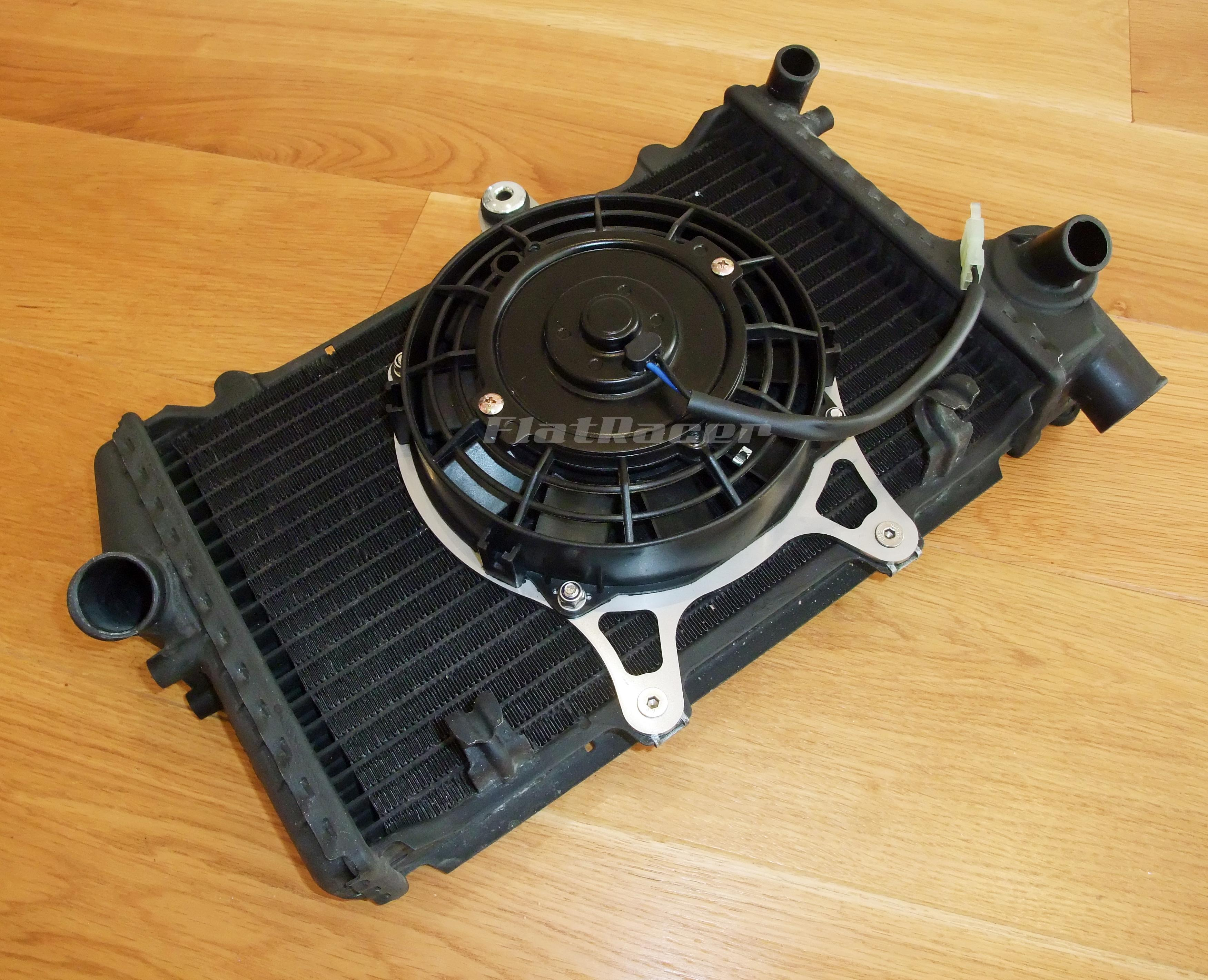 FlatRacer BMW K series radiator fan kit - fit K100, K75, K1 & K1100 models (83-96)