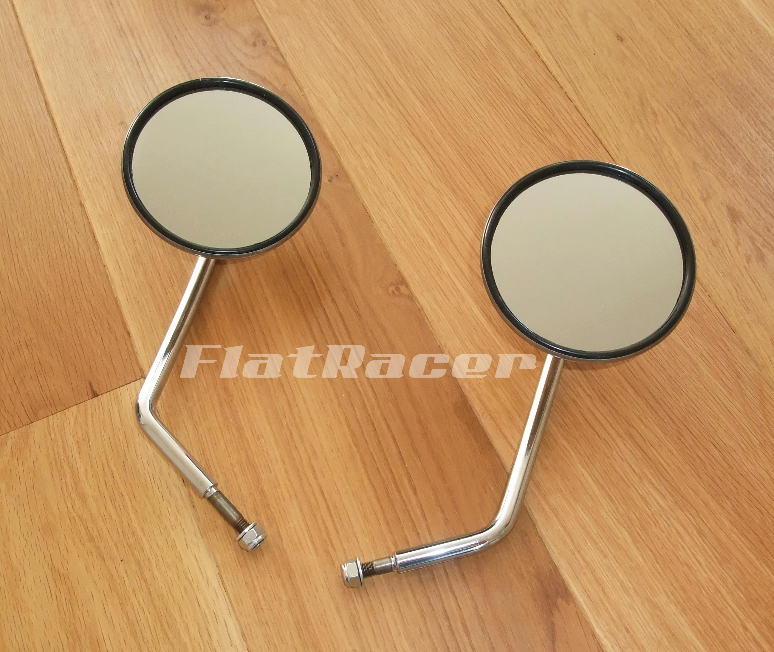 BMW Airhead Boxer Chrome & Stainless mirrors (pair)