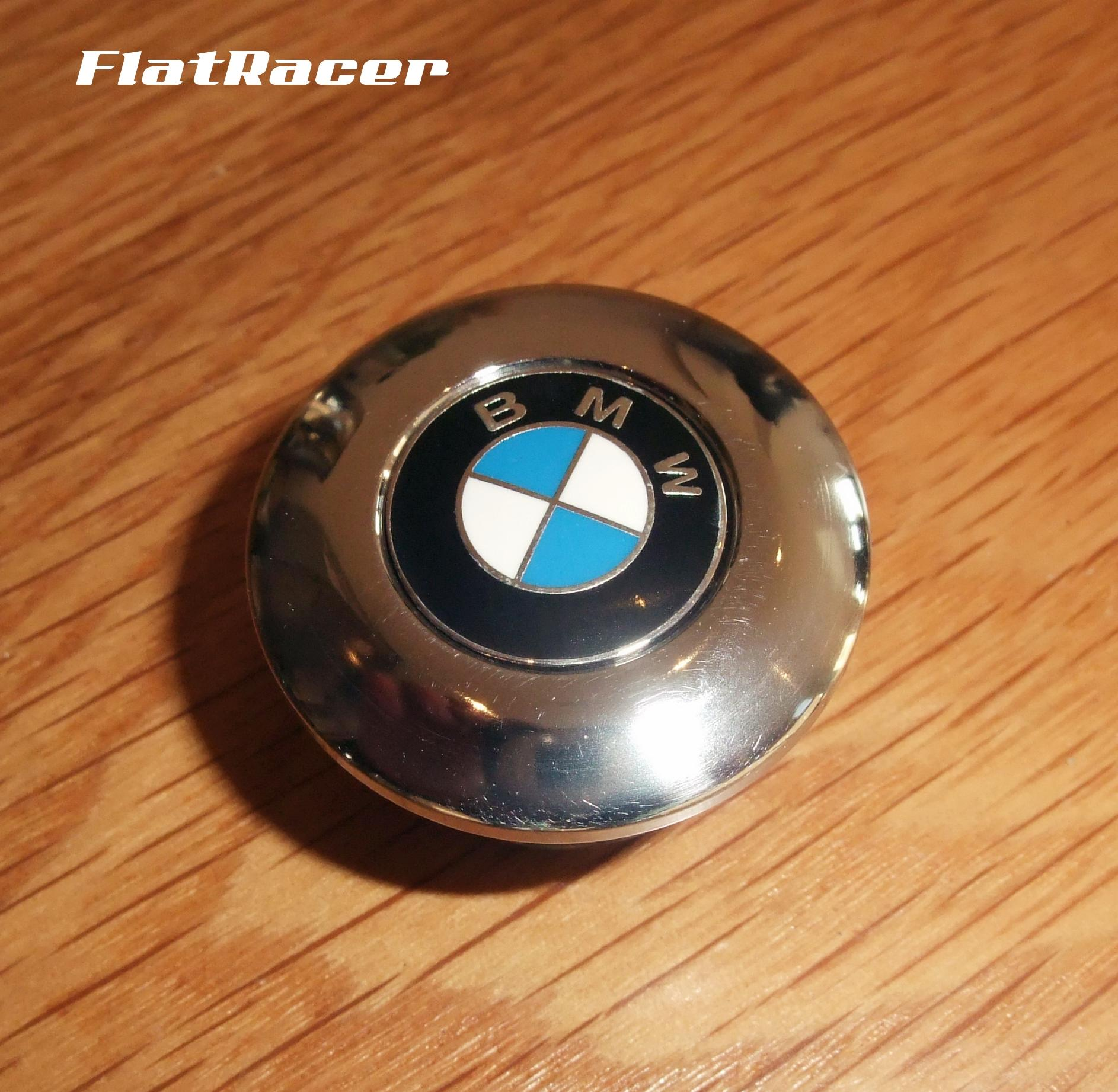 FlatRacer BMW R45 & R65 (78-84) s/s steering stem/top yoke top centre bolt w/ badge