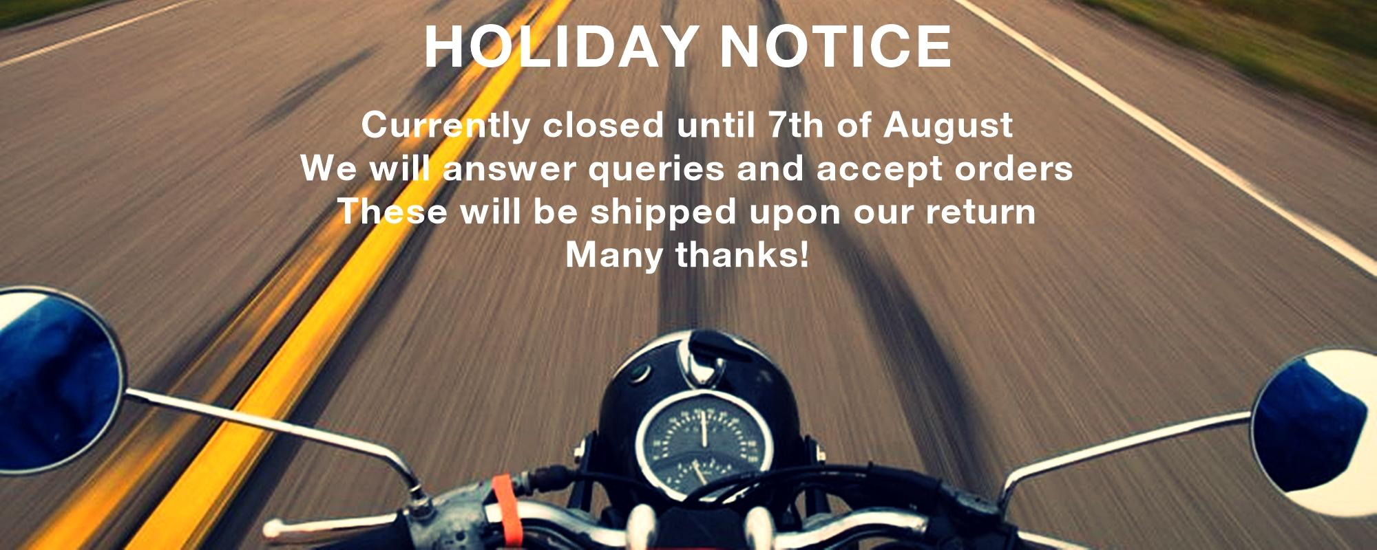 FlatRacer - BMW Airhead Boxer & K series Parts & Accessories Specialist - Holiday Notice 2020