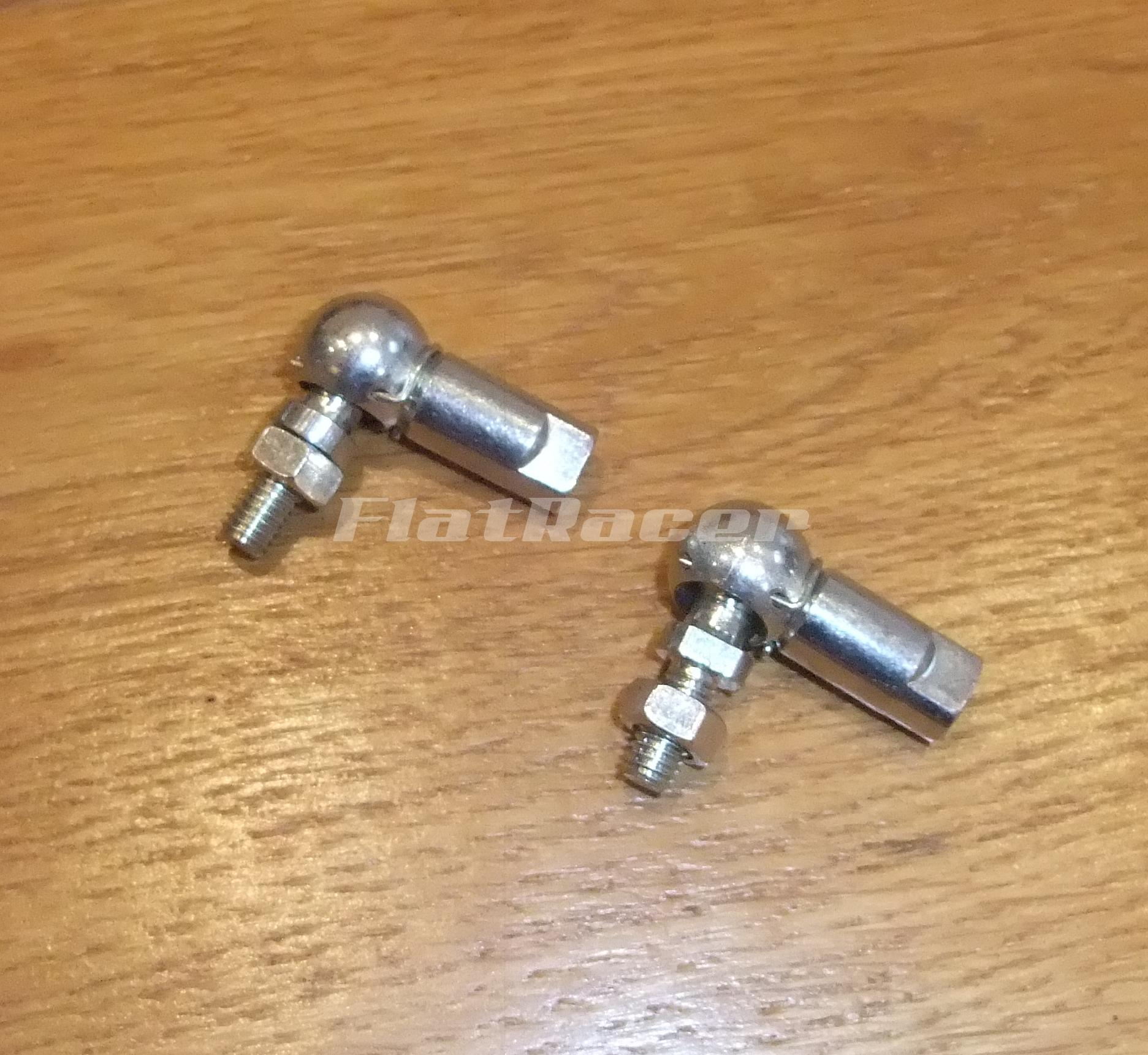 M6 BZP steel ball joints (pair)