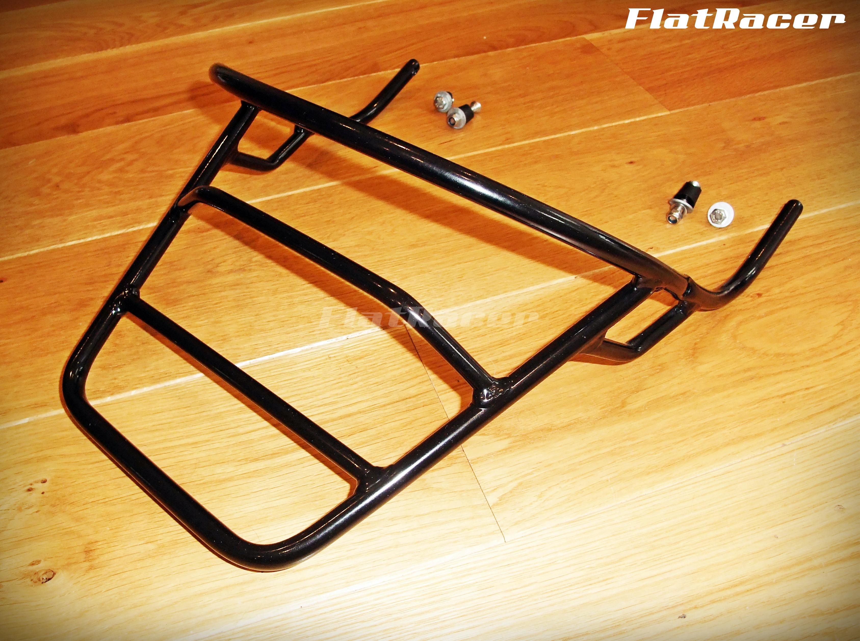 FlatRacer BMW R90S & /7 Series (73-84) seat luggage rack - black