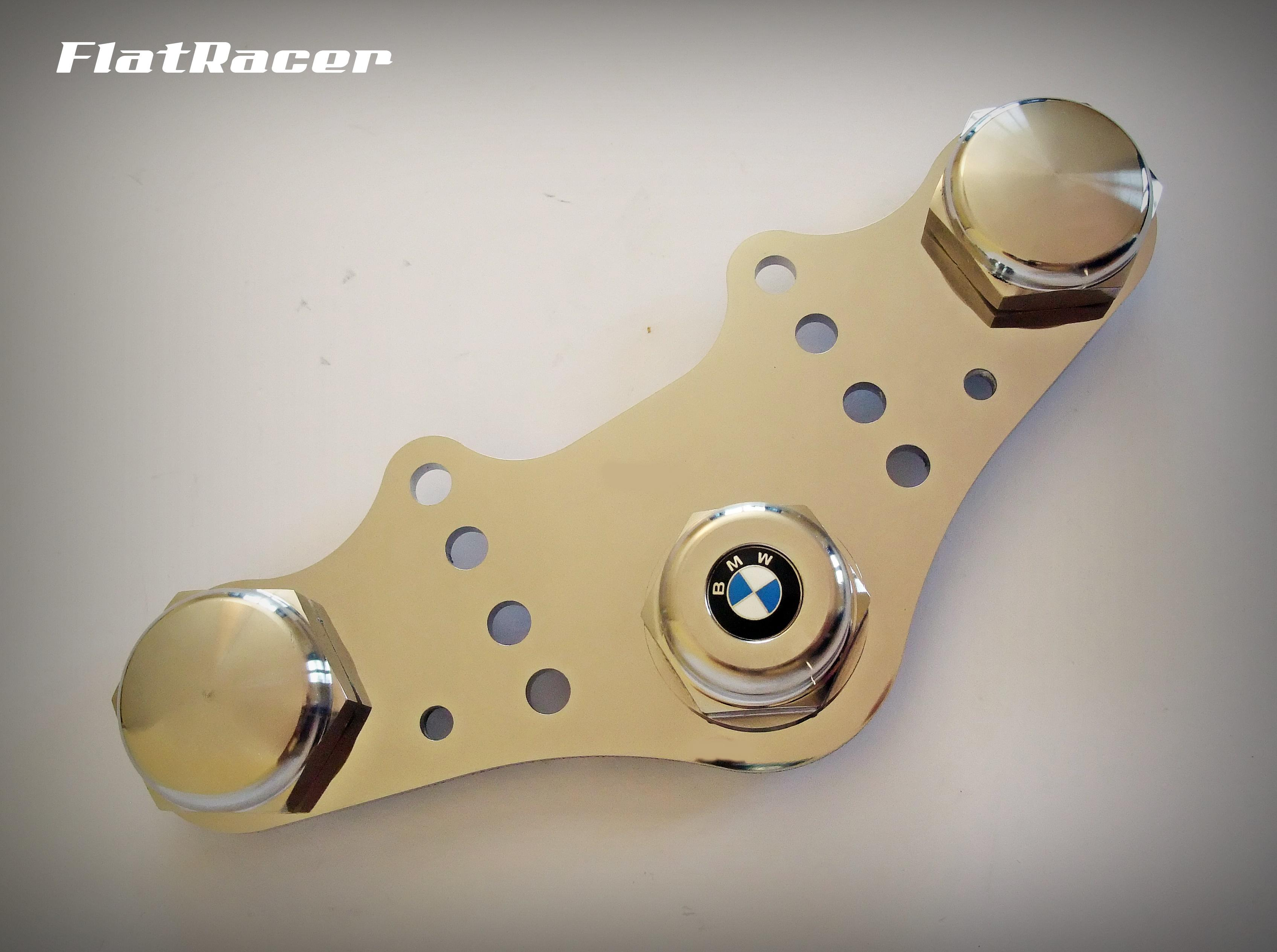 FlatRacer BMW Airhead Boxer R2v Monolever Series (1985 on) stainless steel top yoke Set
