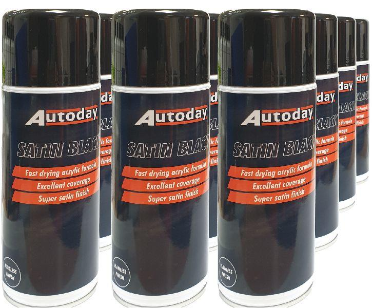 12 x Satin Black Aerosols