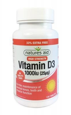 Vitamin D, Natures Way Vitamin D3, High Strength Vitamin D3